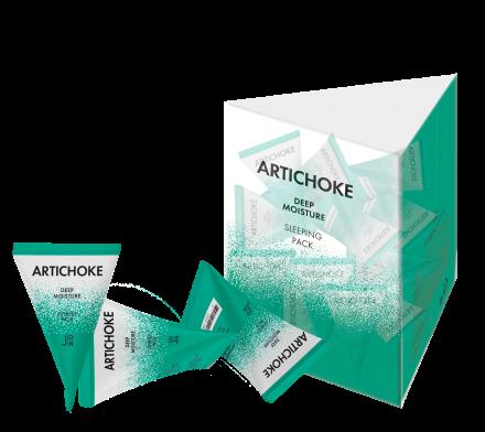 Набор масок для лица АРТИШОК J:ON Artichoke Deep Moisture Sleeping Pack 5г*20шт: фото